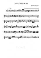 Trumpet Etude 20