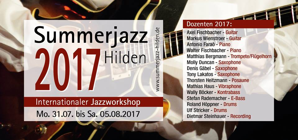 Summerjazz 17 Dozenten