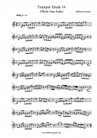 Trumpet Etude 39 Whole Tone Scale