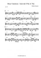 Blues Variations – Intervals 7ths