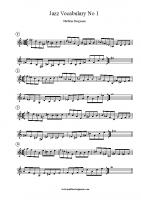 Jazz Vocabulary No 1
