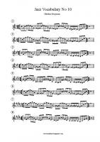 Jazz Vocabulary No 10