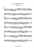 Jazz Vocabulary No 13