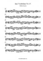 Jazz Vocabulary No 15