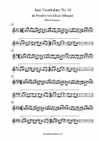 Jazz Vocabulary No 16