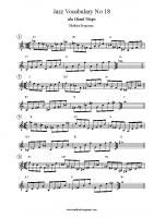 Jazz Vocabulary No 18