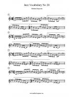 Jazz Vocabulary No 20