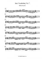 Jazz Vocabulary No 7